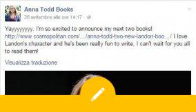 Anna Todd annuncia due nuovi libri