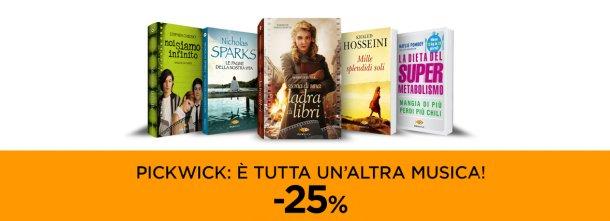 Fino al 28 febbraio -25% su tutto il catalogo Pickwick!